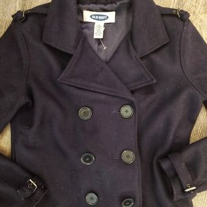 Old navy cropped blue pea coat
